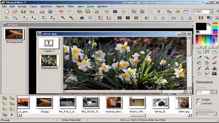 PhotoFiltre, графический редактор